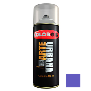 Tinta Spray Arte Urbana Fosco Azul Miró 400ml Colorgin