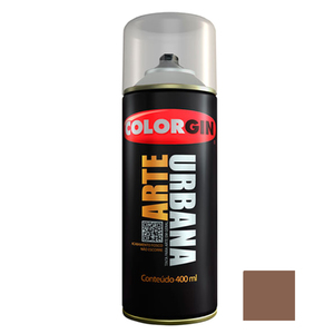 Tinta Spray Arte Urbana Fosco Canela 400ml Colorgin