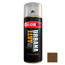 Tinta Spray Arte Urbana Fosco Chocolate 400ml Colorgin