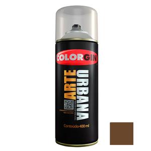Tinta Spray Arte Urbana Fosco Chocolate 400ml Colorgin