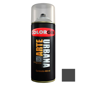 Tinta Spray Arte Urbana Fosco Cinza Chumbo 400ml Colorgin