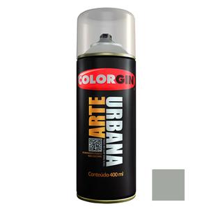 Tinta Spray Arte Urbana Fosco Cinza Claro 400ml Colorgin
