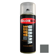 Tinta Spray Arte Urbana Fosco Cinza Londres 400ml Colorgin