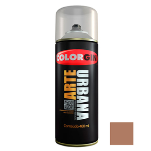 Tinta Spray Arte Urbana Fosco Madeira 400ml Colorgin