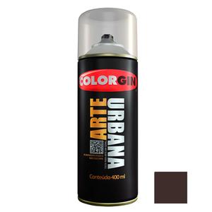 Tinta Spray Arte Urbana Fosco Marrom Café 400ml Colorgin