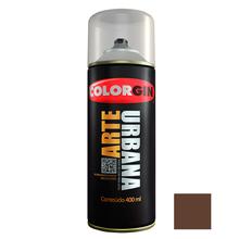Tinta Spray Arte Urbana Fosco Marrom Tabaco 400ml Colorgin