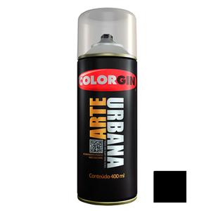 Tinta Spray Arte Urbana Fosco Preto 400ml Colorgin