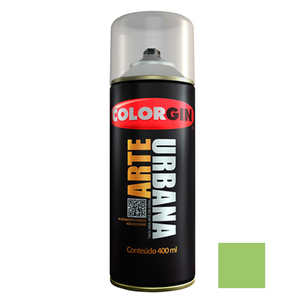 Tinta Spray Arte Urbana Fosco Verde Abacate 400ml Colorgin