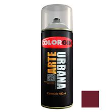 Tinta Spray Arte Urbana Fosco Vermelho Açaí 400ml Colorgin