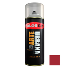 Tinta Spray Arte Urbana Fosco Vermelho Cereja 400ml Colorgin