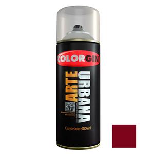 Tinta Spray Arte Urbana Fosco Vermelho Ferrari 400ml Colorgin