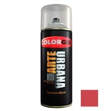 Tinta Spray Arte Urbana Fosco Vermelho Goiaba 400ml Colorgin
