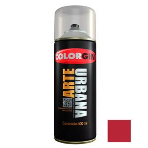 Tinta Spray Arte Urbana Fosco Vermelho Malaga 400ml Colorgin