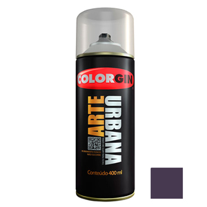 Tinta Spray Arte Urbana Fosco Violeta Cosmos 400ml Colorgin