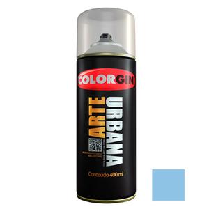 Tinta Spray Azul Ártico Urbana Fosco Azul Ártico 400ml Colorgin