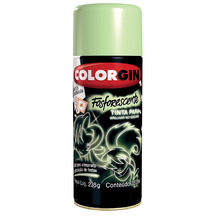 Tinta Spray Colorgin Fosforescente Amarelo 350 ml