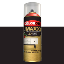 Tinta Spray Cover Maxx Black Power 400ml Colorgin