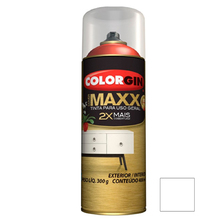 Tinta Spray Cover Maxx Branco Supremo 400ml Colorgin
