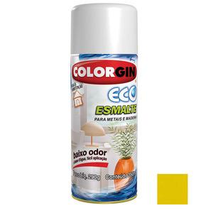 Tinta Spray Eco Esmalte Colorgin Brilhante Amarelo Reno 350ml