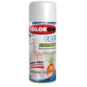 Tinta Spray Eco Esmalte Colorgin Brilhante Laranja Orange 350 ml