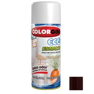 Tinta Spray Eco Esmalte Colorgin Brilhante Marrom Amazonas 350ml
