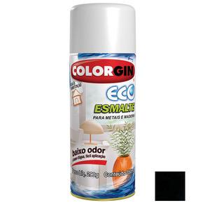 Tinta Spray Eco Esmalte Colorgin Brilhante Negro 350ml