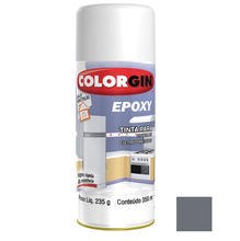 Tinta Spray Epóxy Colorgin Brilhante Cinza Nímbus 350ml