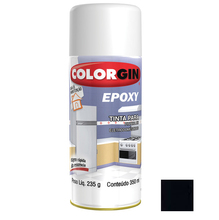 Tinta Spray Epóxy Colorgin Brilhante Preta 350ml