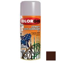Tinta Spray Esmalte Antiferrugem 3X1 Colorgin Alto Brilho Marrom 350ml