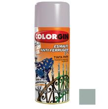 Tinta Spray Esmalte Antiferrugem 3X1 Colorgin Alto Brilho Platina 350ml
