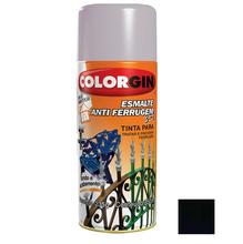 Tinta Spray Esmalte Antiferrugem 3X1 Colorgin Alto Brilho Preto 350ml