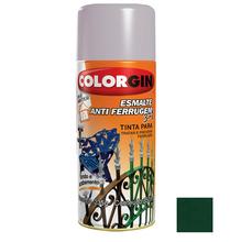 Tinta Spray Esmalte Antiferrugem 3X1 Colorgin Alto Brilho Verde Colonial 350ml
