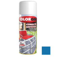 Tinta Spray Esmalte Sintético Colorgin Alto Brilho Azul Médio 350ml