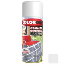 Tinta Spray Esmalte Sintético Colorgin Alto Brilho Branco Fosco 350ml