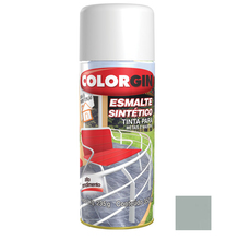 Tinta Spray Esmalte Sintético Colorgin Alto Brilho Platina 350ml