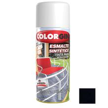 Tinta Spray Esmalte Sintético Colorgin Alto Brilho Preto 350ml