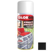 Tinta Spray Esmalte Sintético Colorgin Alto Brilho Preto Fosco 350ml