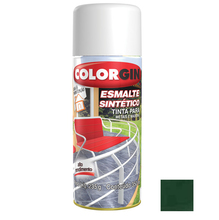 Tinta Spray Esmalte Sintético Colorgin Alto Brilho Verde Folha 350ml