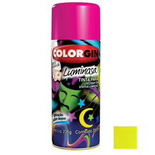 Tinta Spray Luminosa Colorgin Fosco Amarelo 350ml