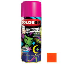 Tinta Spray Luminosa Colorgin Fosco Laranja 350ml