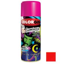 Tinta Spray Luminosa Colorgin Fosco Vermelho 350ml