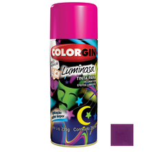 Tinta Spray Luminosa Colorgin Fosco Violeta 350ml