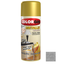 Tinta Spray Metallik Colorgin Cromado 350ml