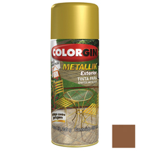 Tinta Spray Metallik Colorgin Metálico Cobre 350ml