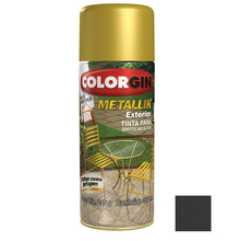Tinta Spray Metallik Colorgin Metálico Grafite 350ml