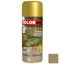 Tinta Spray Metallik Colorgin Metálico Ouro 350ml
