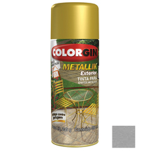 Tinta Spray Metallik Colorgin Metálico Prata 350ml