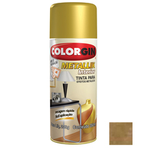 Tinta Spray Metallik Colorgin Ouro 350ml