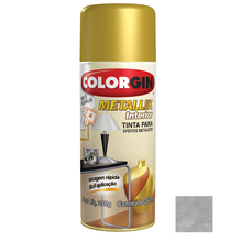 Tinta Spray Metallik Colorgin Prata 350ml