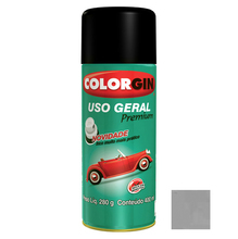 Tinta Spray Uso Geral Colorgin Brilho Aluminio 400ml